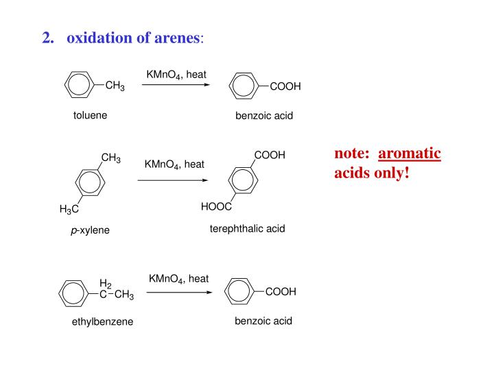 oxidation of arenes