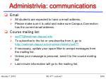 administrivia communications