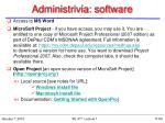 administrivia software