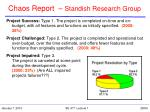chaos report standish research group