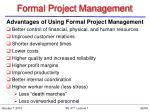 formal project management