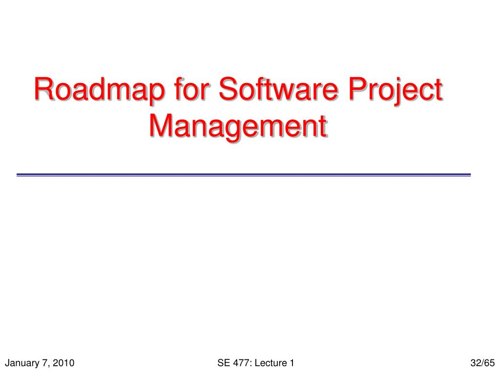 Roadmap for Software Project Management