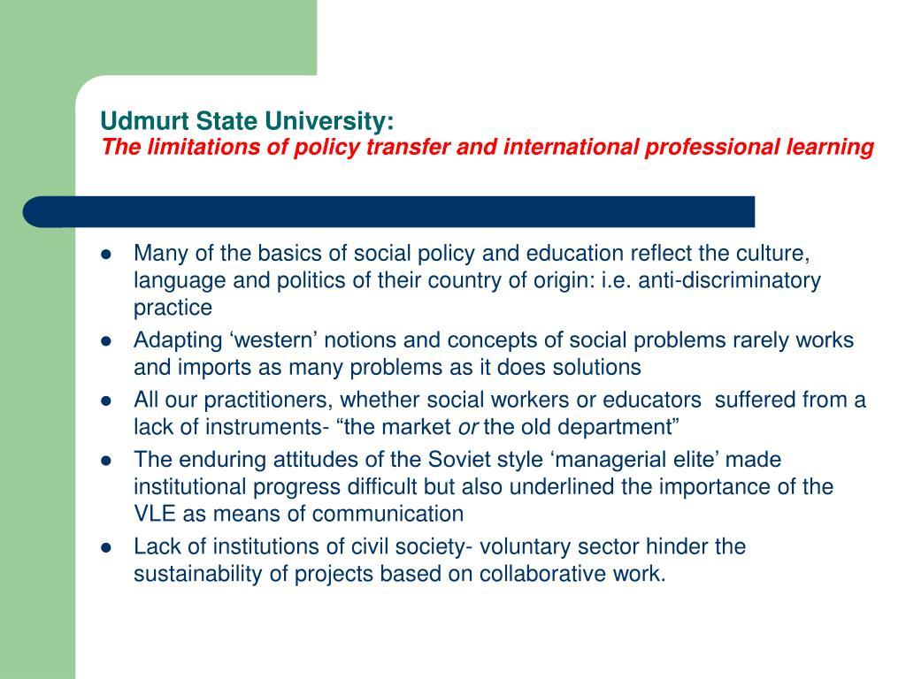 Udmurt State University: