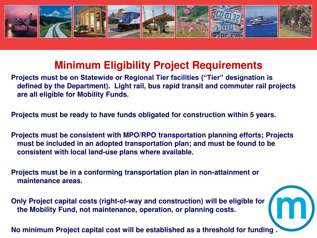 Minimum Eligibility Project Requirements