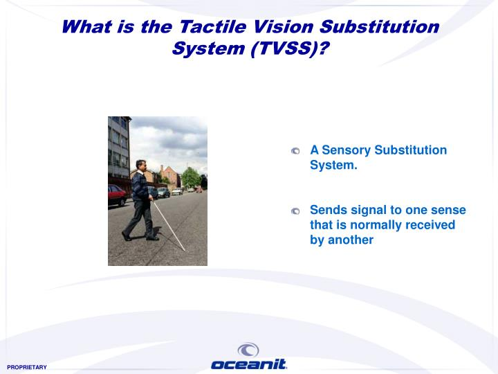 What is the tactile vision substitution system tvss