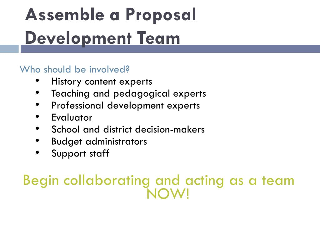Assemble a Proposal Development Team