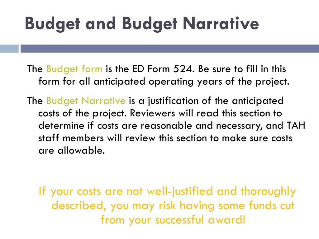 Budget and Budget Narrative