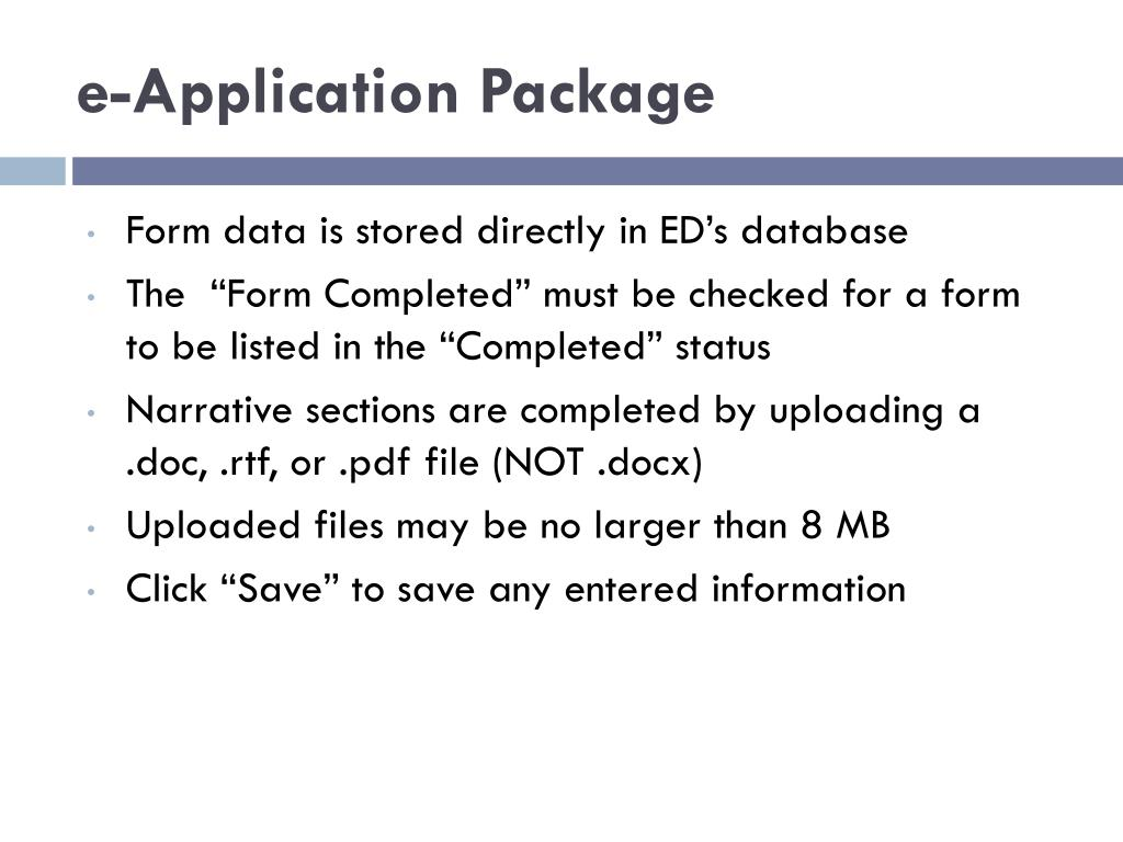 e-Application Package