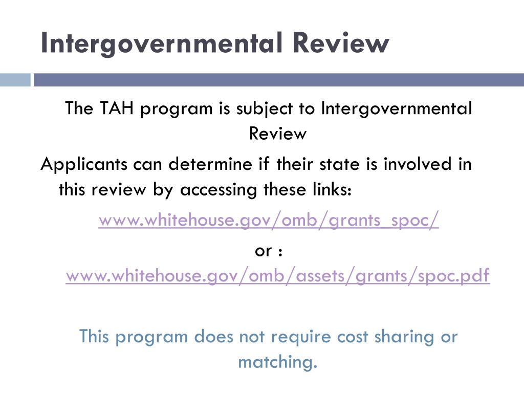 Intergovernmental Review