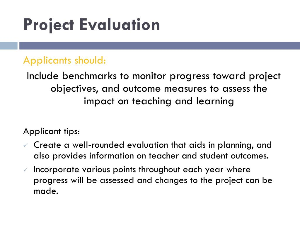 Project Evaluation