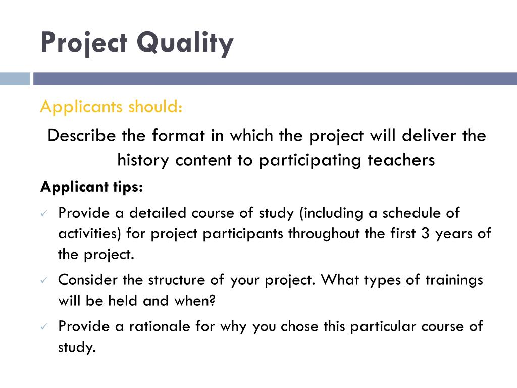 Project Quality