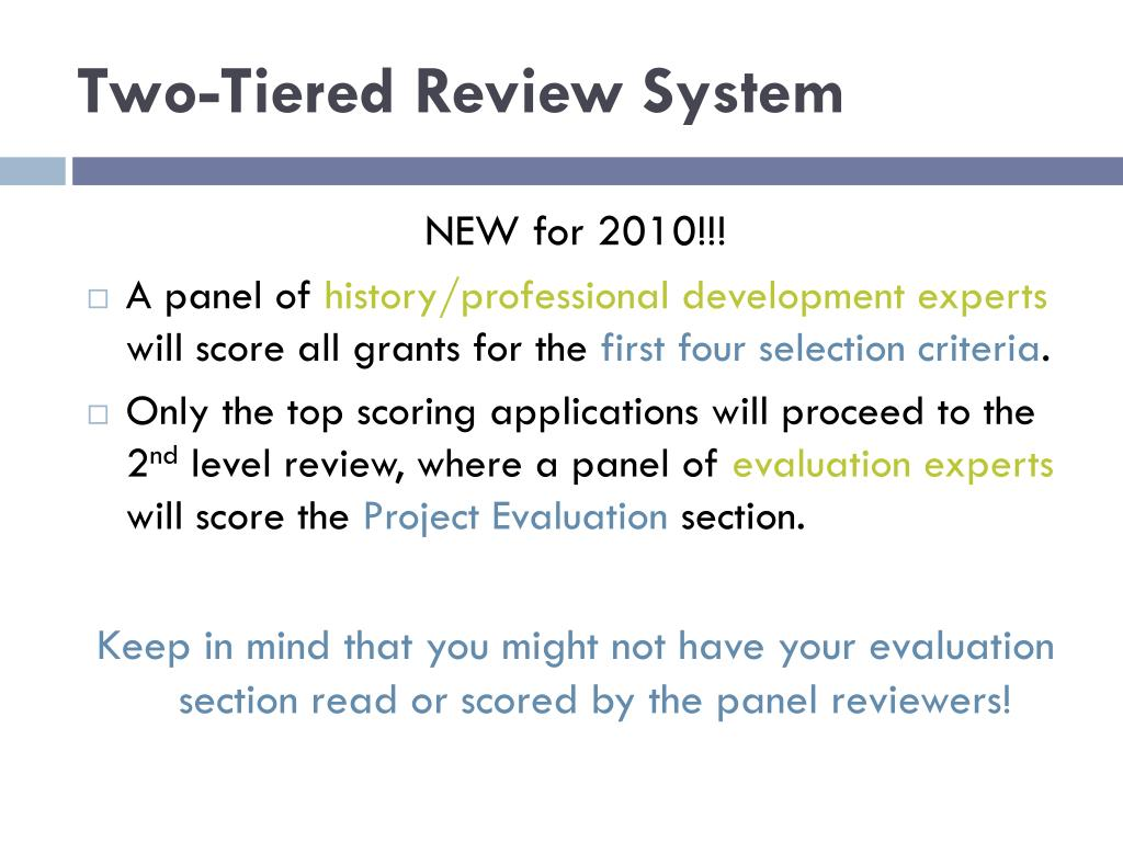 Two-Tiered Review System