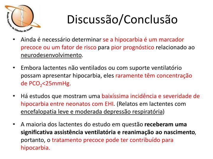 Discussão/Conclusão