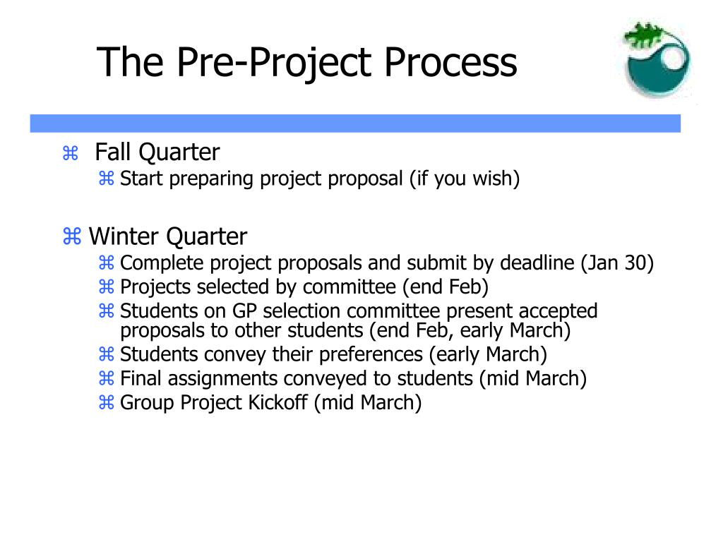 The Pre-Project Process