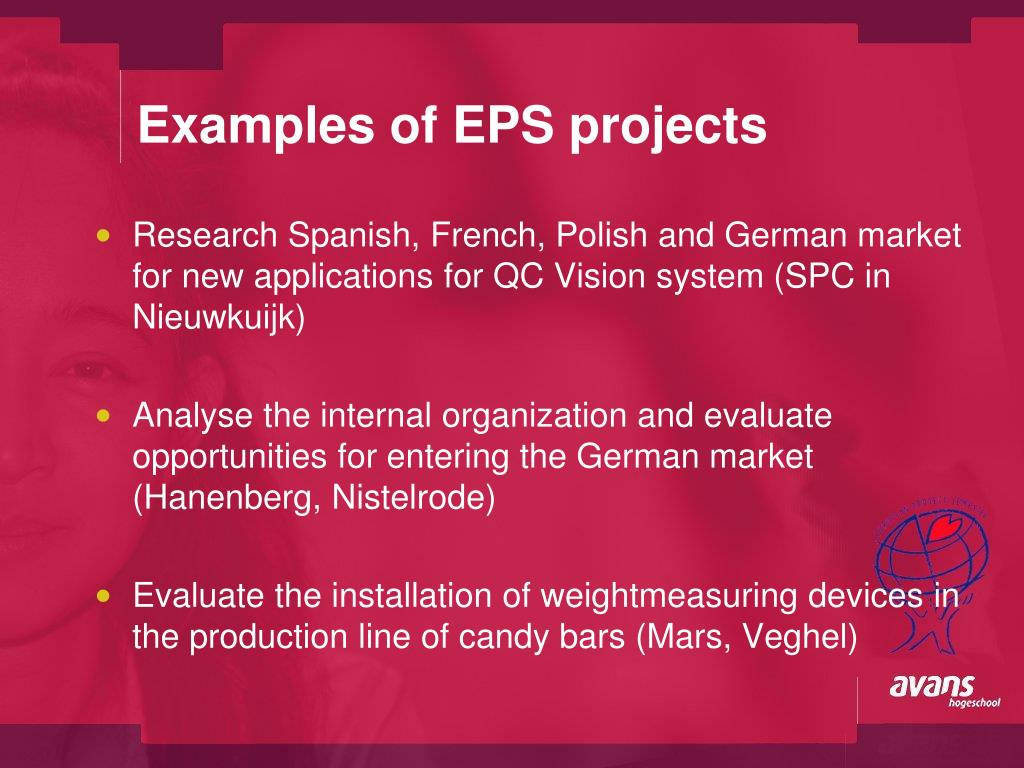 Examples of EPS projects