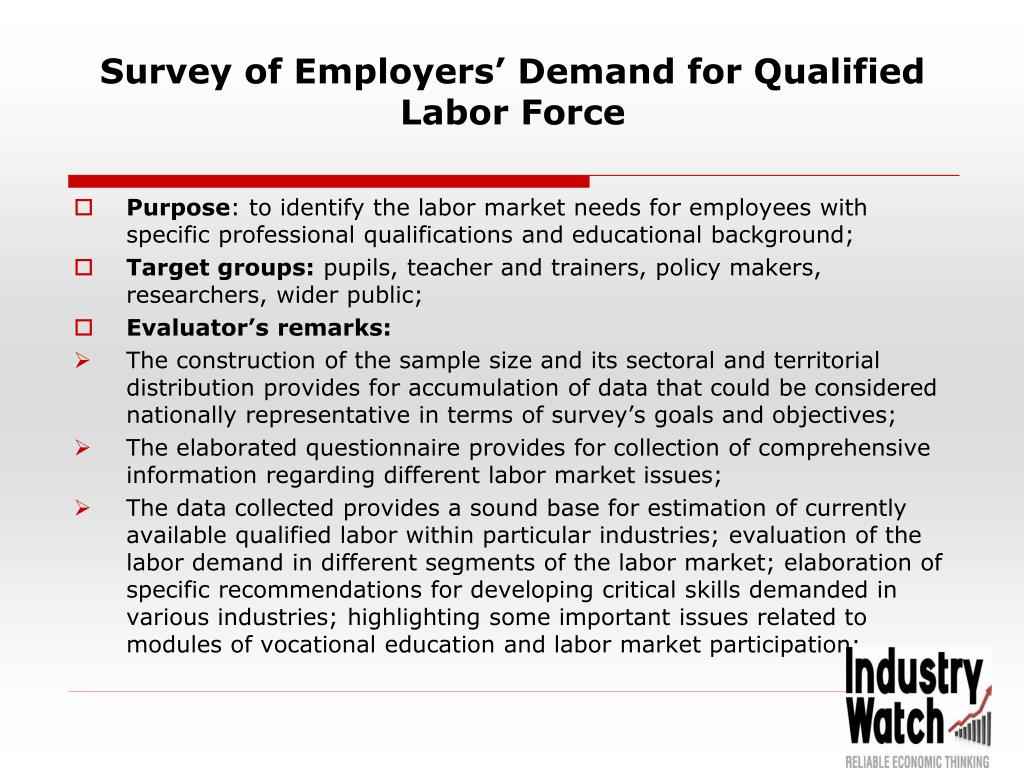 Survey of Employers' Demand for Qualified Labor Force