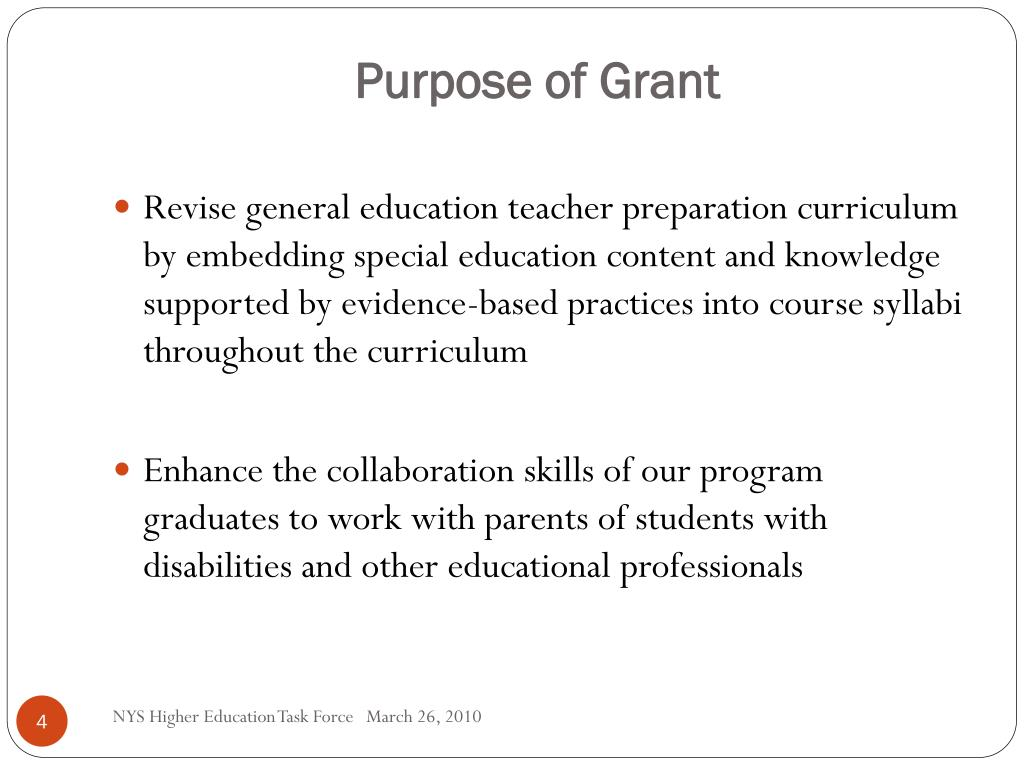 Purpose of Grant