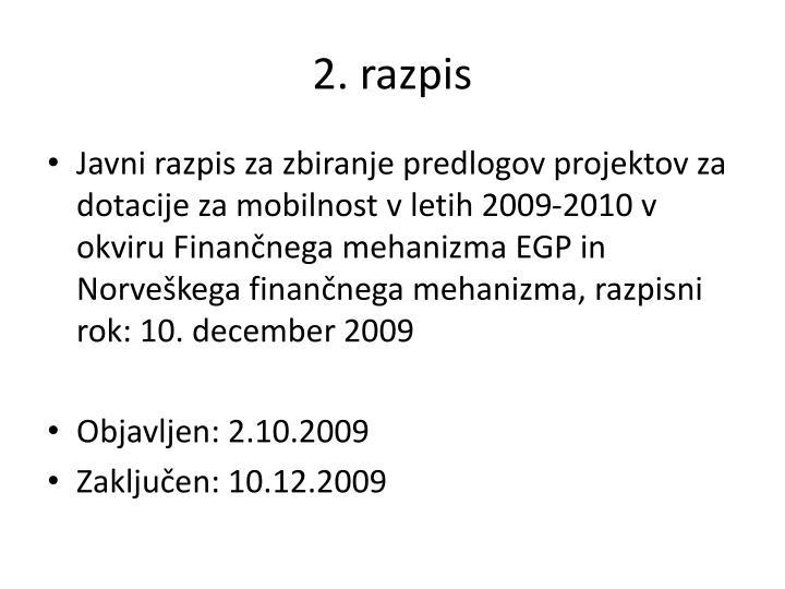 2. razpis