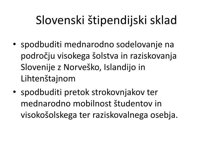 Slovenski štipendijski sklad