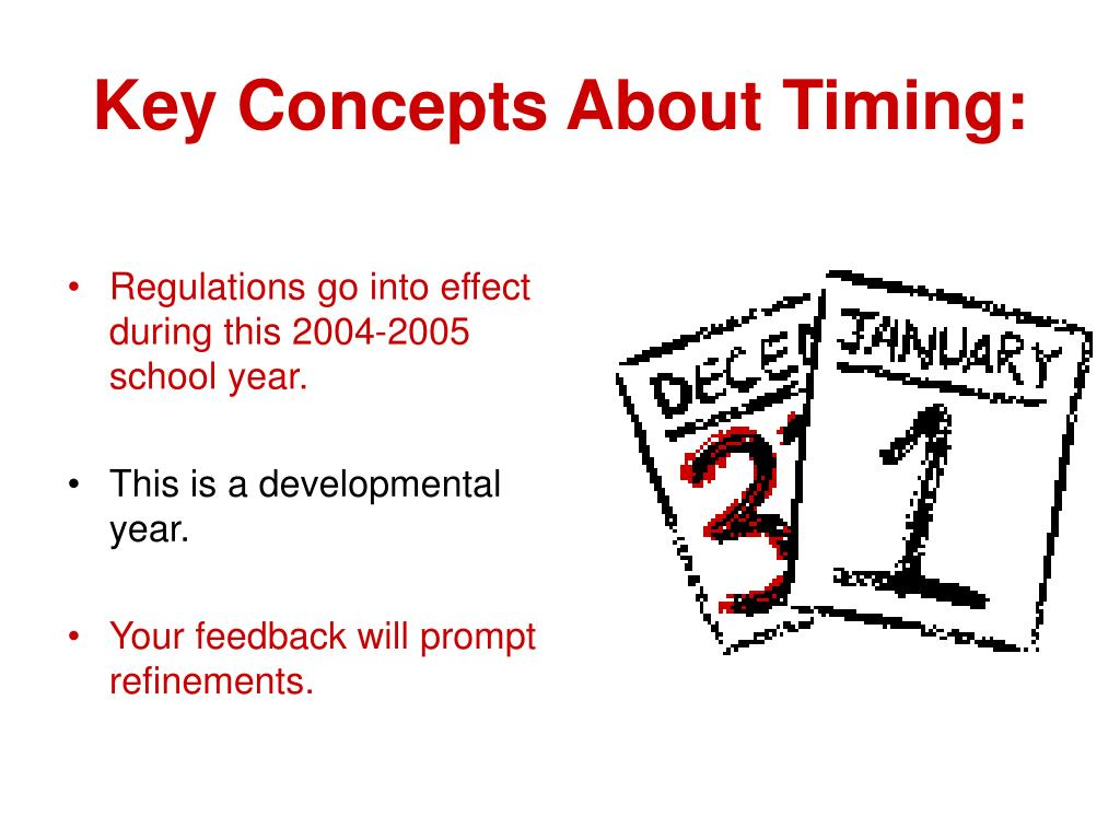 Key Concepts About Timing: