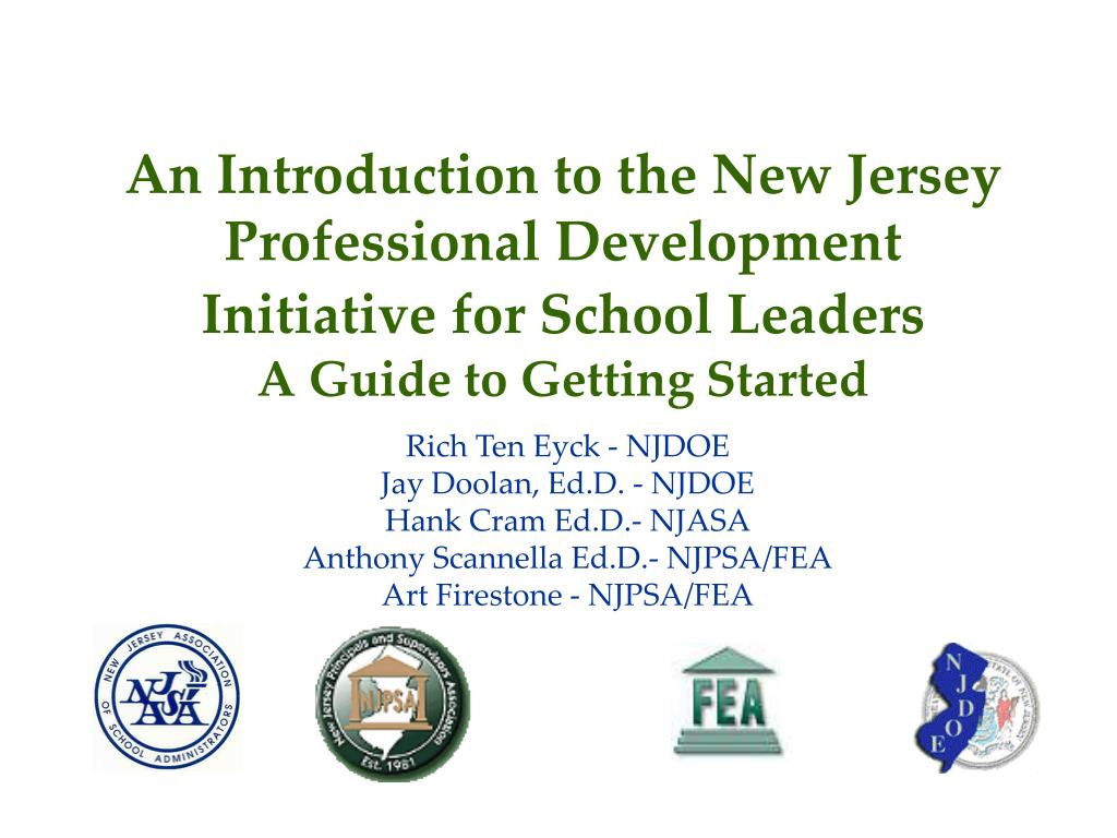 An Introduction to the New Jersey Professional Development Initiative for School Leaders