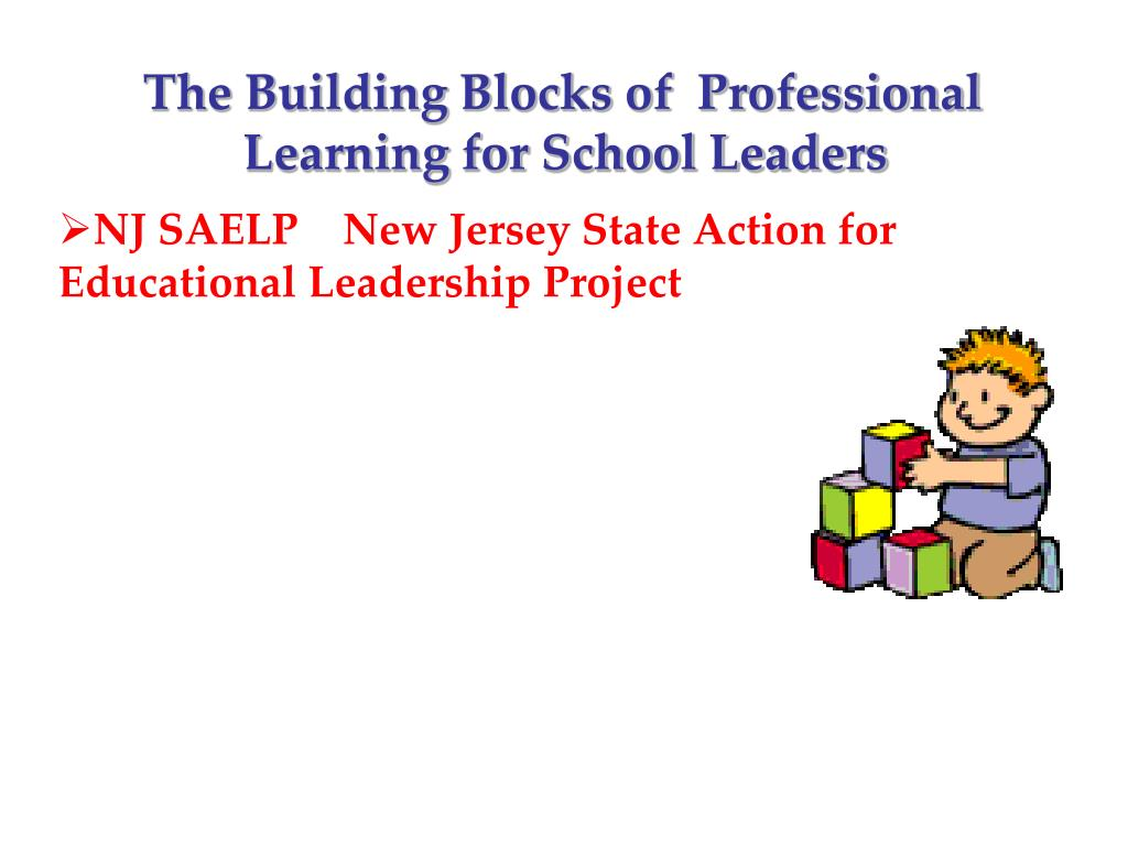 The Building Blocks of  Professional        	     Learning for School Leaders
