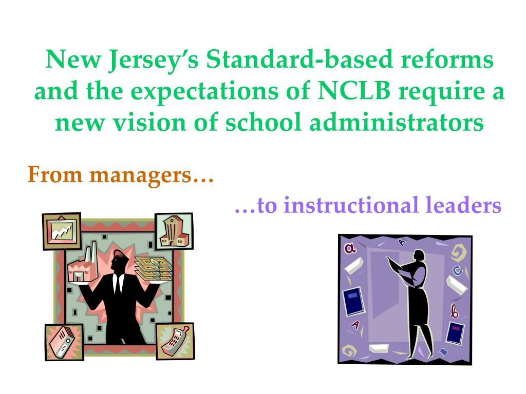 New Jersey's Standard-based reforms