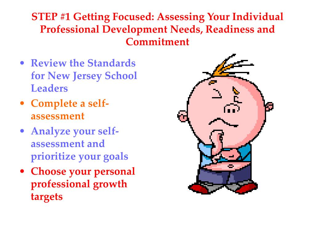 STEP #1 Getting Focused: Assessing Your Individual Professional Development Needs, Readiness and Commitment