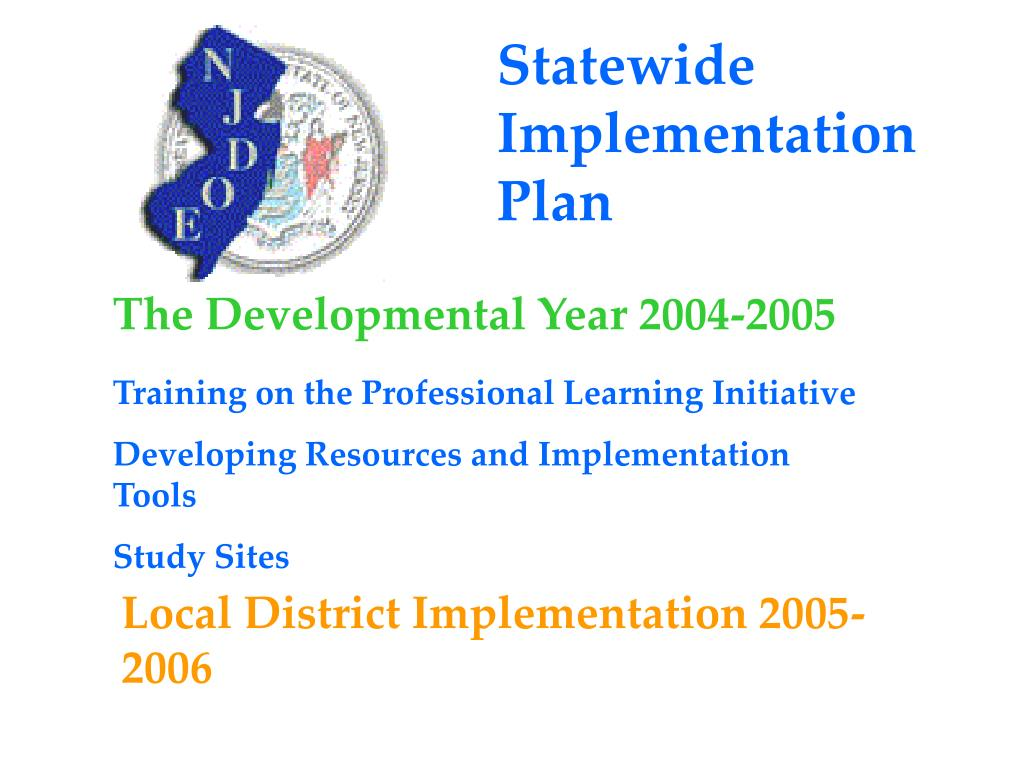 Statewide Implementation Plan