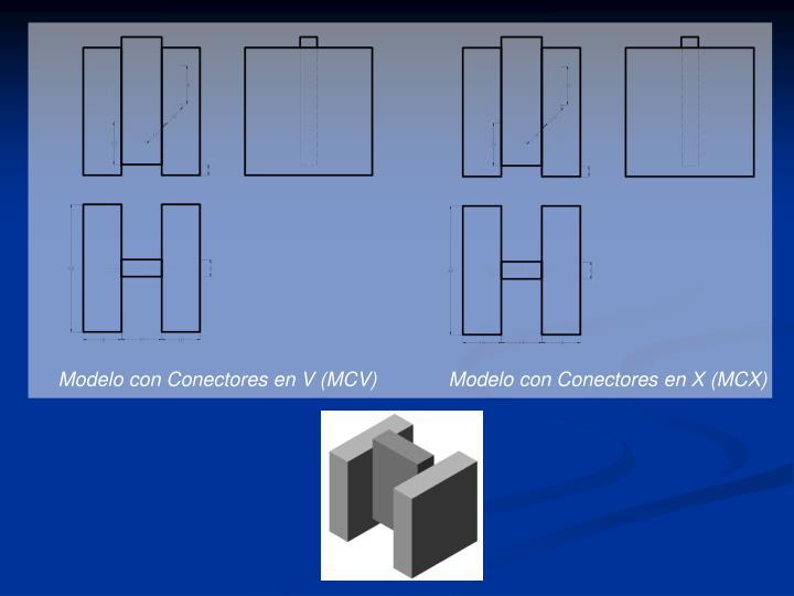 Modelo con Conectores en V (MCV)             Modelo con Conectores en X (MCX)