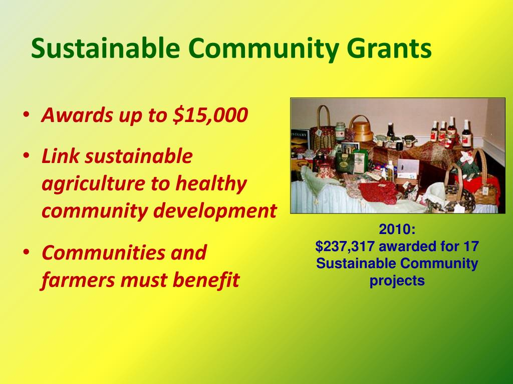 Sustainable Community Grants