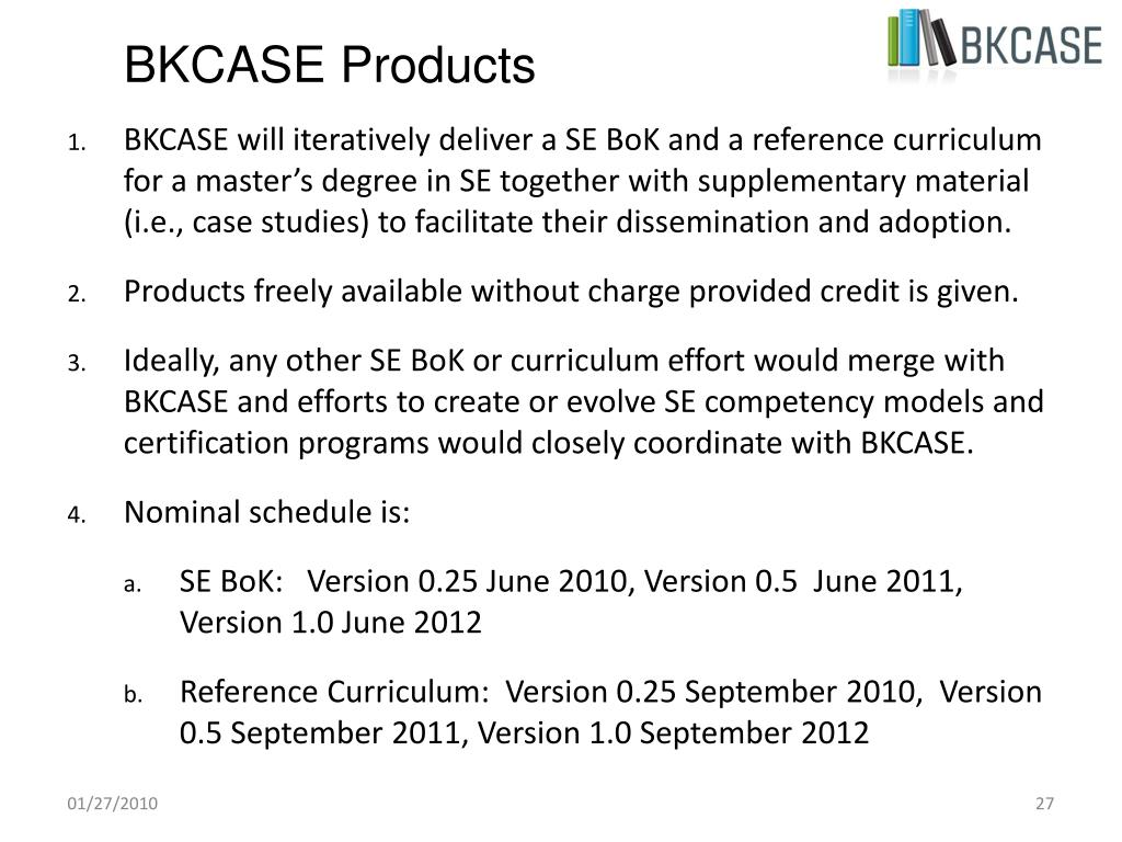 BKCASE Products