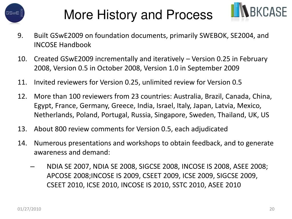 More History and Process
