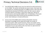 primary technical decisions 5 6