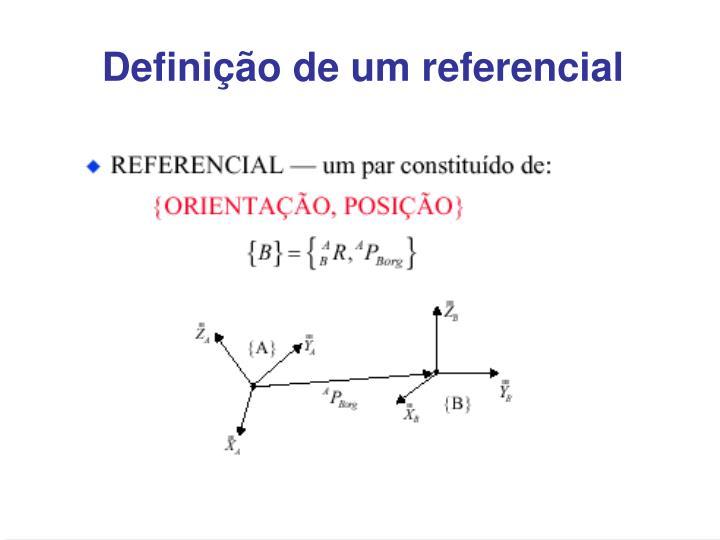 Definição de um referencial