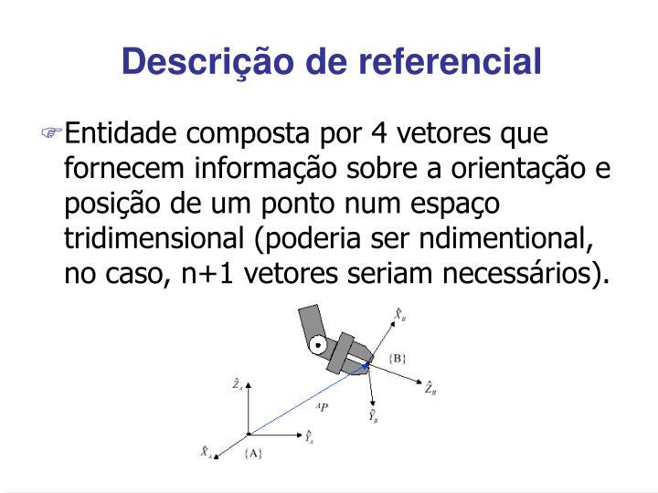 Descrição de referencial