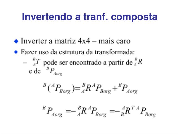 Invertendo a tranf. composta