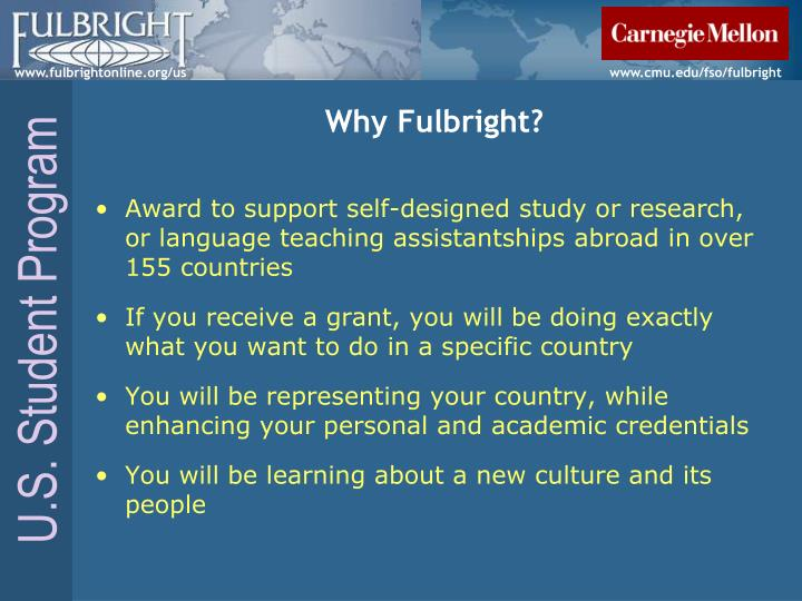 Why fulbright