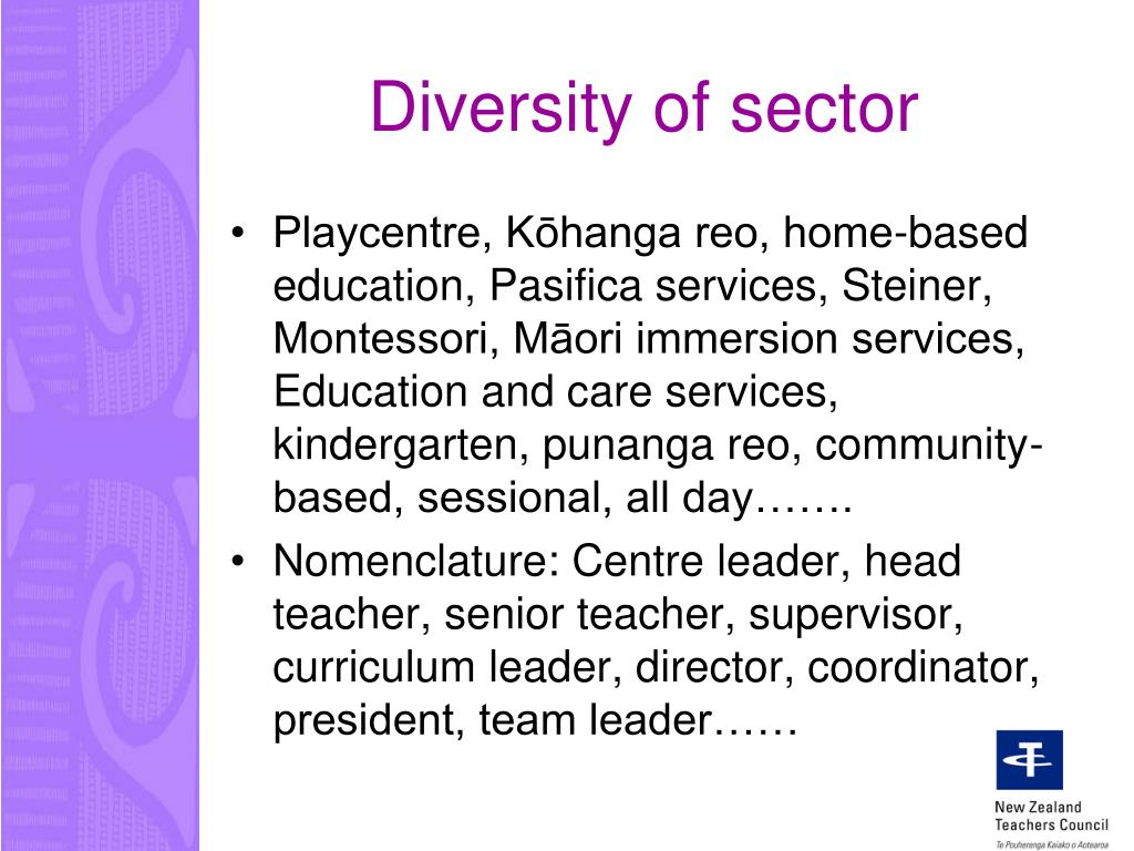 Diversity of sector