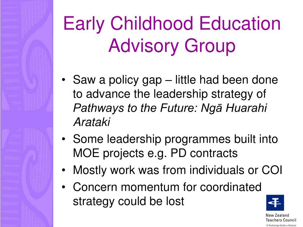 Early Childhood Education Advisory Group