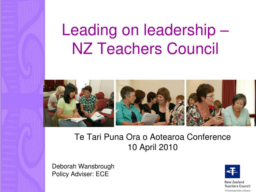 Leading on leadership – NZ Teachers Council