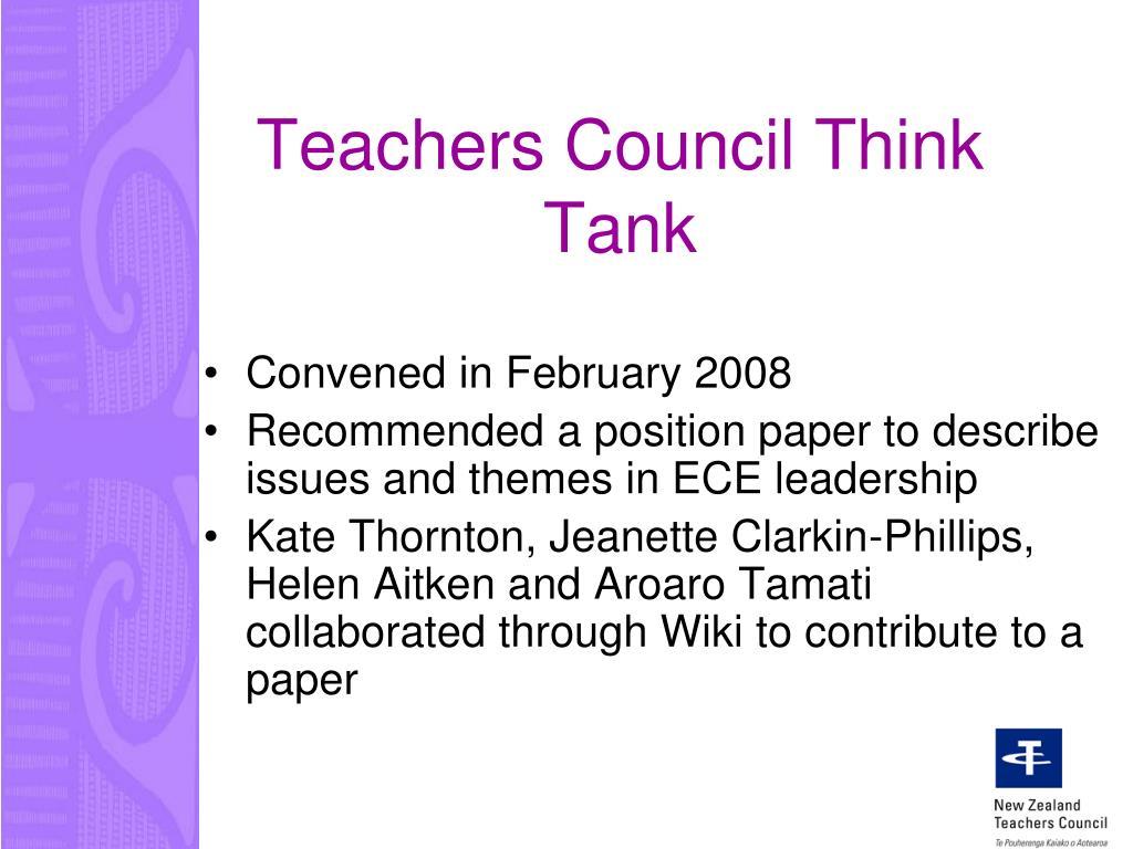 Teachers Council Think Tank