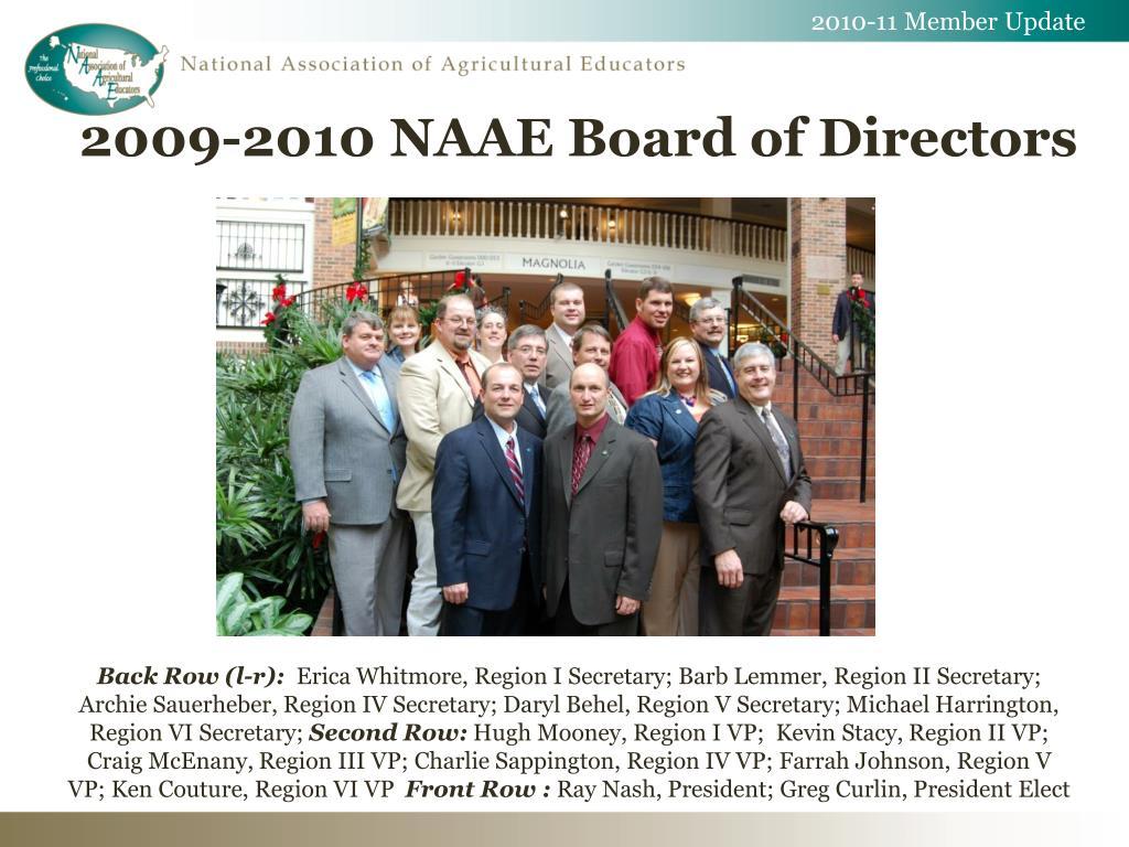 2010-11 Member Update