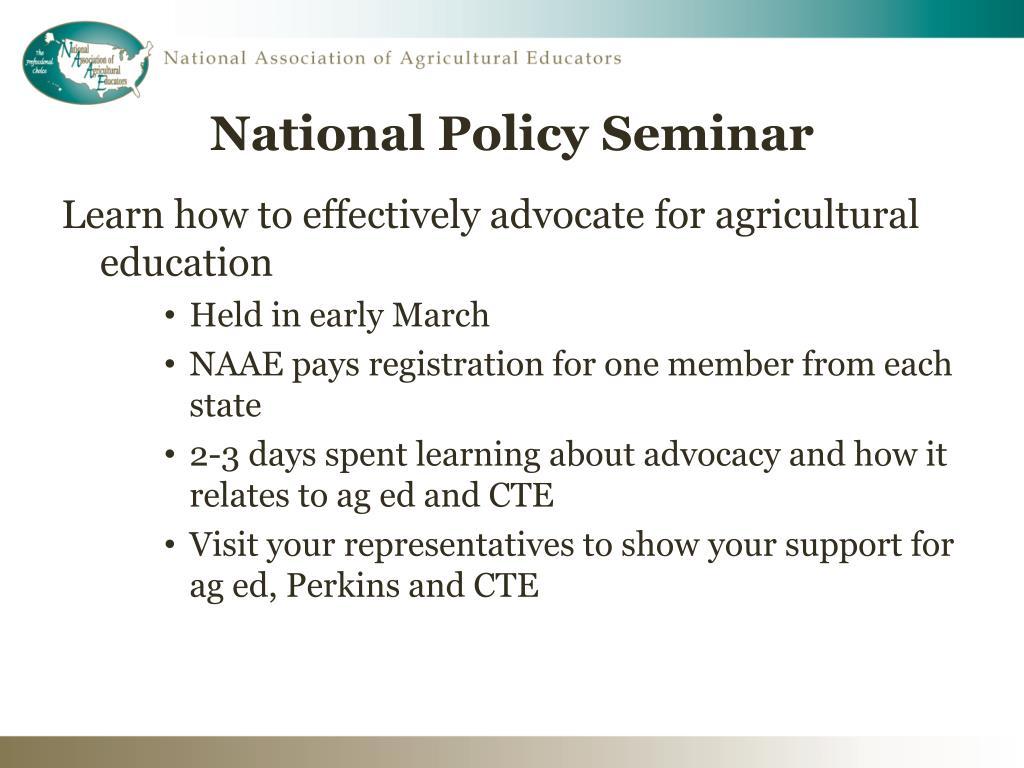 National Policy Seminar