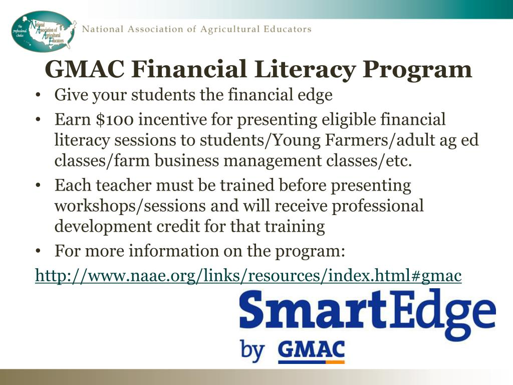 GMAC Financial Literacy Program