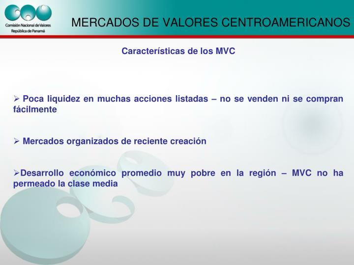 MERCADOS DE VALORES CENTROAMERICANOS