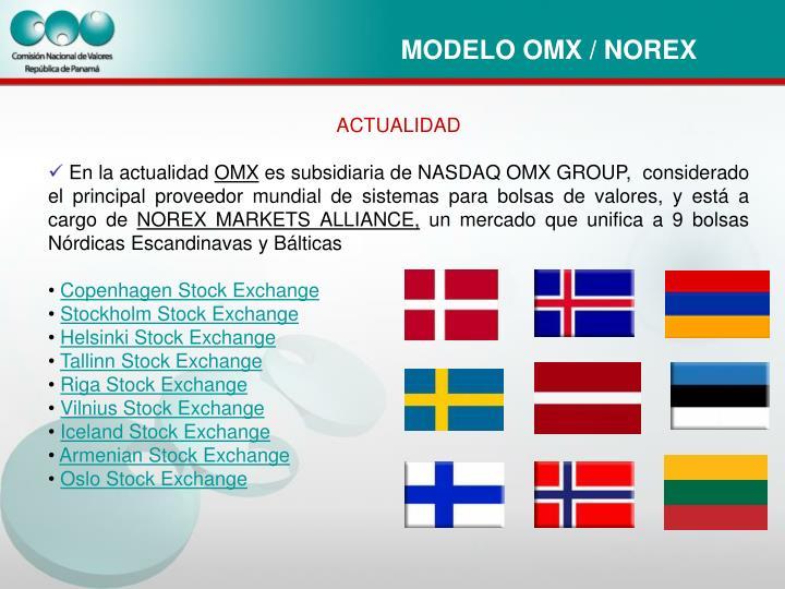MODELO OMX / NOREX