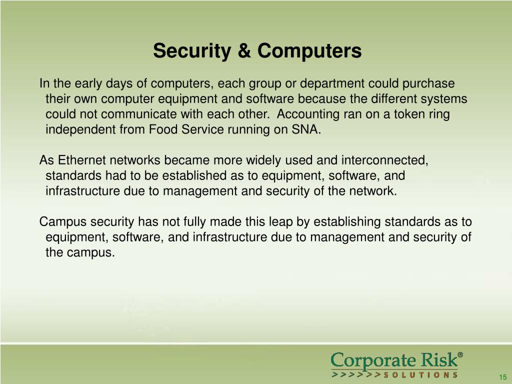 Security & Computers