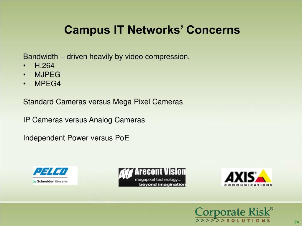 Campus IT Networks' Concerns