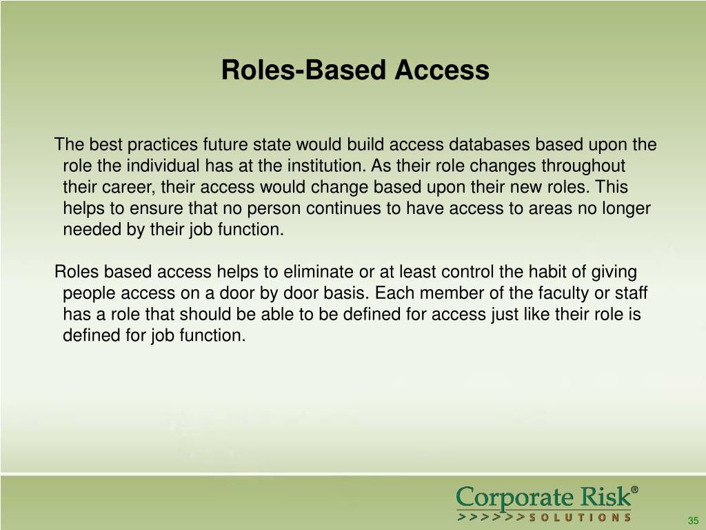 Roles-Based Access